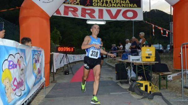 Notturna Gragnanina, il vincitore Dario Rognoni (foto Regalami un sorriso onlus)