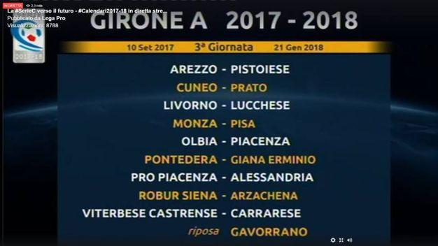 La terza giornata del girone A della Serie C 2017/2018