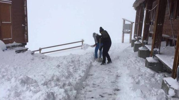 Neve sul Monte Rosa (Ansa)