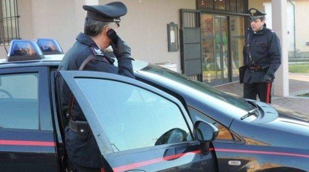 Intervenuti i carabinieri