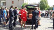 Si sono svolti stamattina i funerali del bagnino eroe Pierluigi 'Bigio' Ricci (Foto Petrelli)
