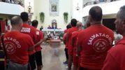 Alla cerimonia funebre erano presenti tanti colleghi di Pierluigi 'Bigio' Ricci (Foto Petrelli)
