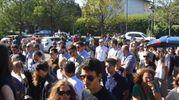 Folla alle esequie di Mattia Dall'Aglio (foto Artioli)