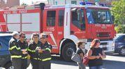 La salma è stata accompagnata da una squadra dei vigili del fuoco di Modena (foto Artioli)