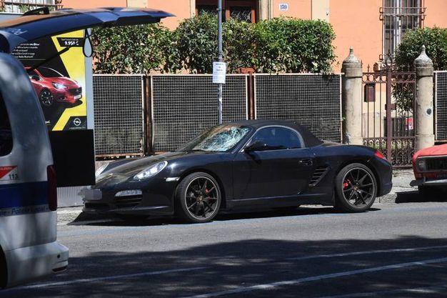 La Porsche coinvolta nell'incidente (foto Schicchi)