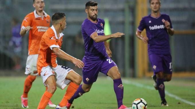 Benassi in azione in Pistoiese-Fiorentina (Germogli)
