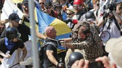 Gli scontri a Charlottesville (Ansa)