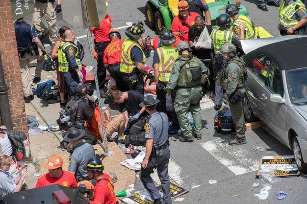 Gli scontri a Charlottesville (Afp)