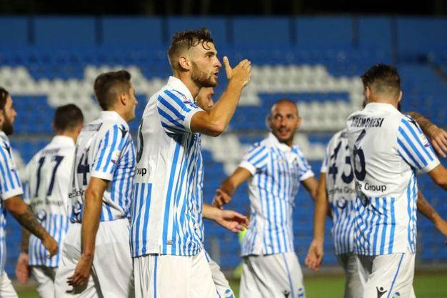 Il gol di Francesco Vicari (foto LaPresse)