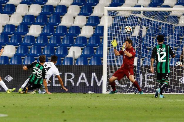 Il gol di Berardi (foto Fiocchi)