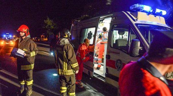 I soccorsi sul luogo dell'incidente (Borghesi)
