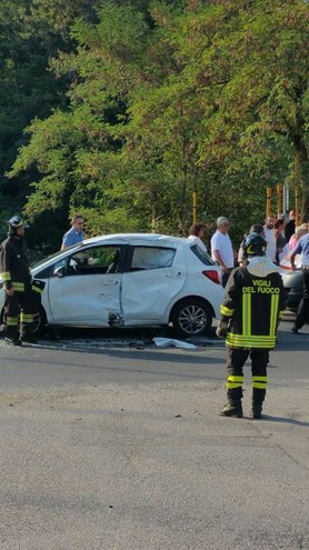 La scena dell'incidente avvenuto a Monterenzio