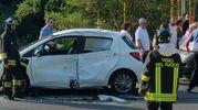 La scena dell'incidente avvenuto a Monterenzio