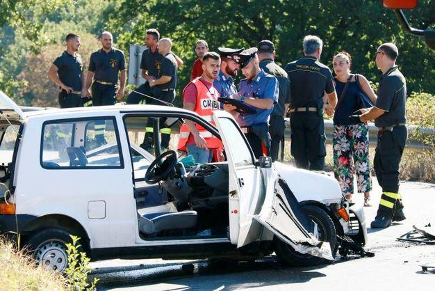 L'incidente frontale ad Altopascio, in località Gelsa (Nucci/Germogli)