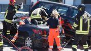 Le due persone coinvolte nell'incidente sono state portate al pronto soccorso di Rimini e Cesena (Foto Migliorini)