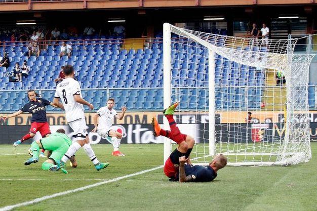 Il gol del 2-1 di Laxalt (foto LaPresse)