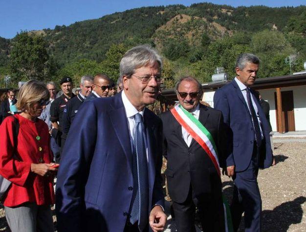 Arquata del Tronto, Paolo Gentiloni (foto Labolognese)