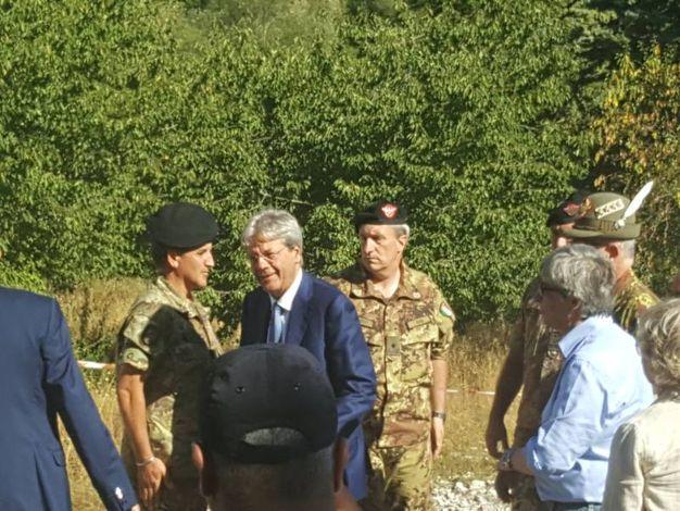 La visita di Paolo Gentiloni (foto Dire)