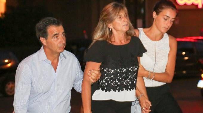 La famiglia di Niccolò Ciatti alla veglia di preghiera a Scandicci (Fotocronache Germogli)