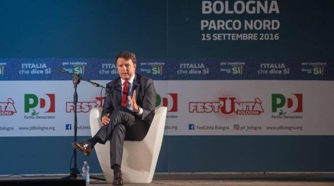 Il segretario dem alla Festa dell'Unità del 2016, a Bologna