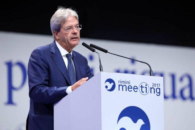 L'intervento di Gentiloni al Meeting (foto Petrangeli)