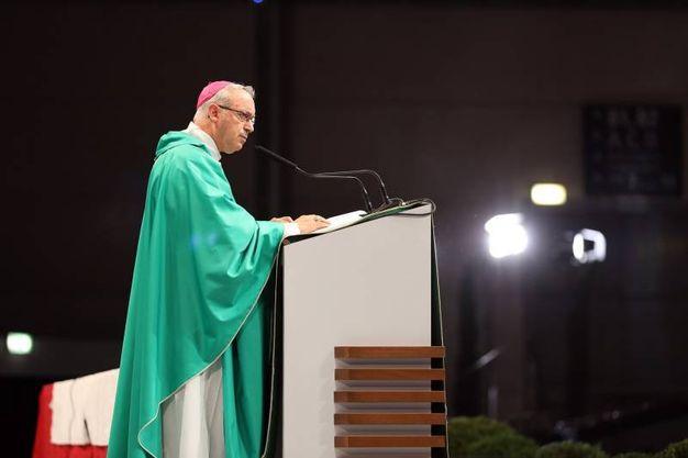 Il vescovo di Rimini, Francesco Lambiasi (foto Petrangeli)