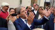 l premier ha assistito alla proiezione di brevi video dei capolavori di Fellini (foto Petrangeli)