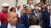 Il premier si è concesso anche una passeggiata per il centro di Rimini (foto Petrangeli)