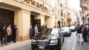 L'arrivo di Gentiloni al cinema Fulgor (foto Migliorini)