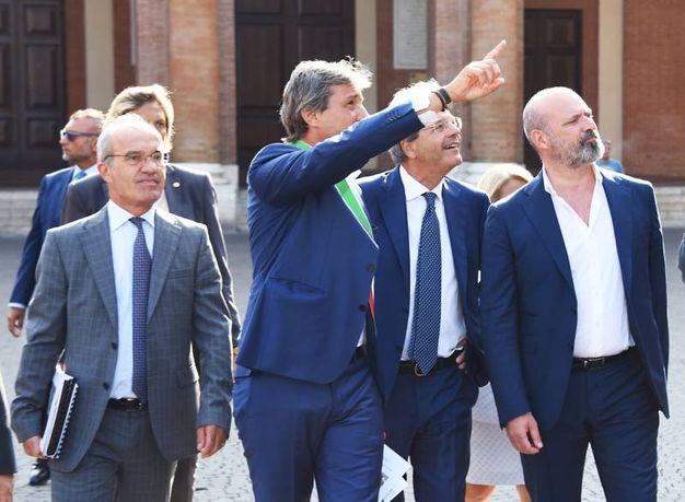 Gentiloni si complimenta con il dinamismo di Rimini (foto Migliorini)