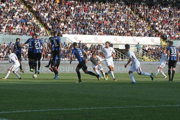 Atalanta-Roma, gol di Kolarov: 0-1 (Ansa)