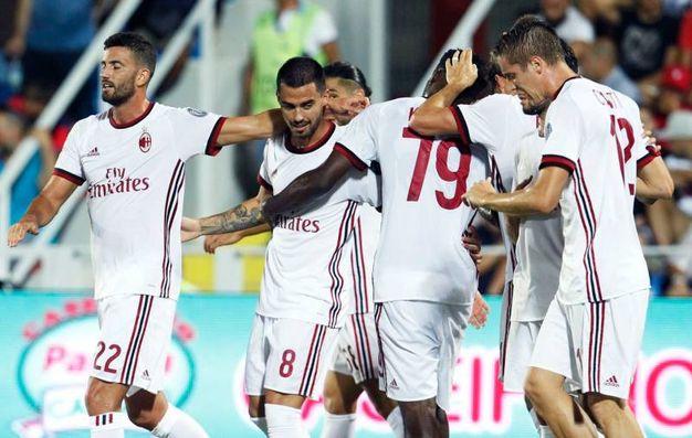 Crotone-Milan 0-3, Suso (Afp)