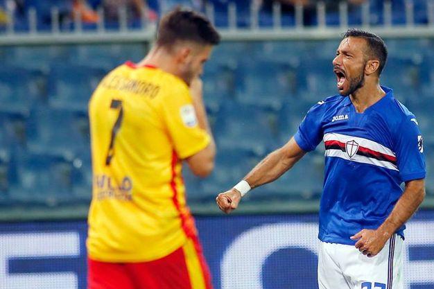 Sampdoria-Benevento 1-1, Quagliarella (Lapresse)
