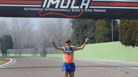 Giorgio Calcaterra sul circuito di Imola
