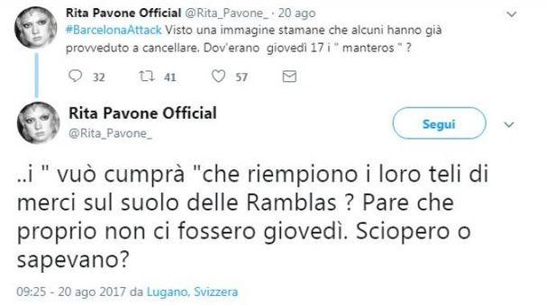 Il tweet di Rita Pavone