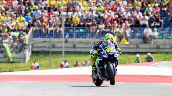 MotoGp Silverstone, Valentino Rossi sarà alla trecentesima gara (Lapresse)