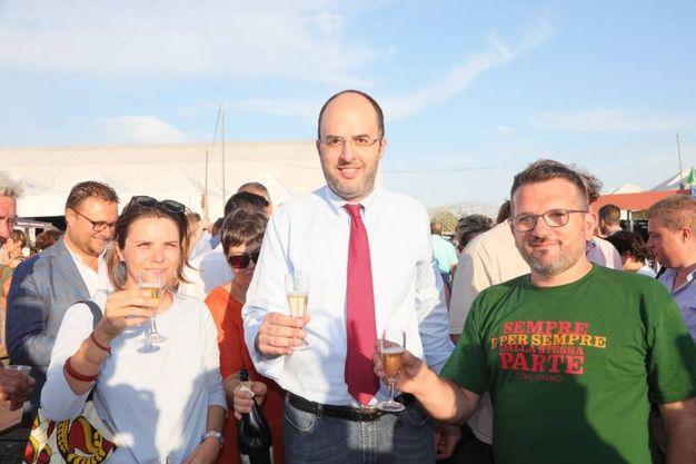 La parlamentare Giuditta Pini, Critelli e Querci (fotoSchicchi)