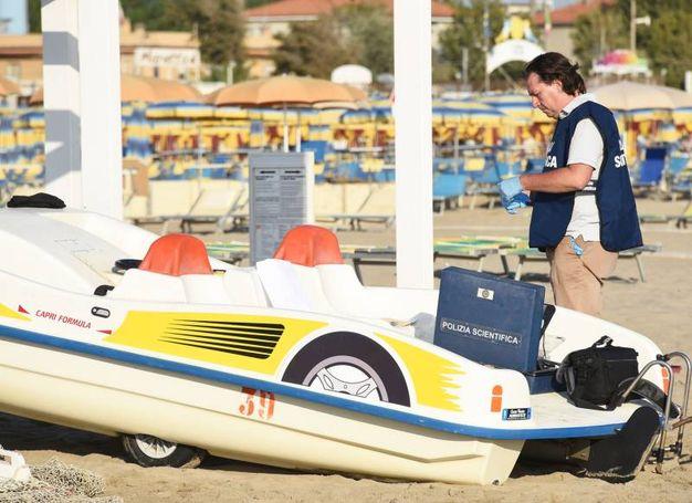 Vittima una giovane polacca, in vacanza a Rimini col fidanzato (Foto Migliorini)