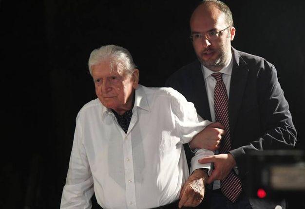 Il segretario Critelli con Sergio Zavoli (foto Schicchi)