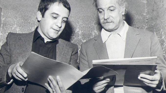 Nanni Svampa, a sinistra, con George Brassens (Ansa)