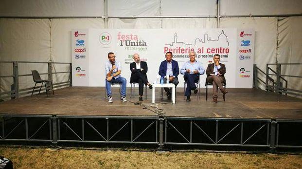 Festa dell'Unità, dibattito: Mazzeo, Bonaccini,  Carrassi, Eugenio Giani, Manuel Vescovi