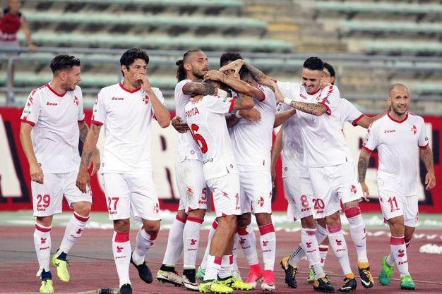 L'esultanza dopo il gol di Improta (foto LaPresse)