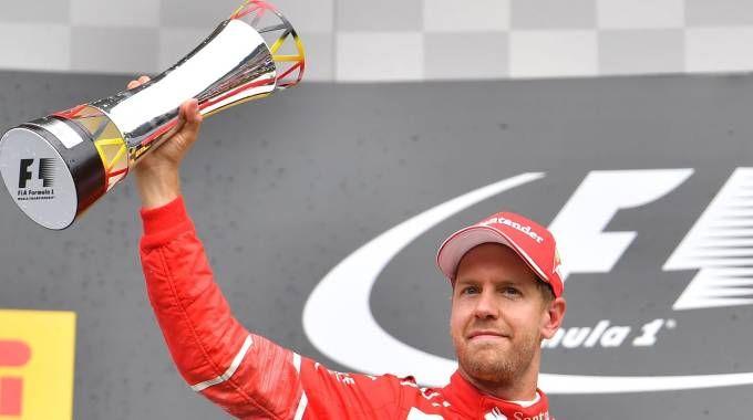 Vettel sul podio in Belgio (Afp)