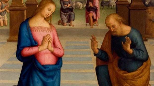 """""""L'Adorazione dei pastori"""" dipinta nel 1502 dal Perugino"""
