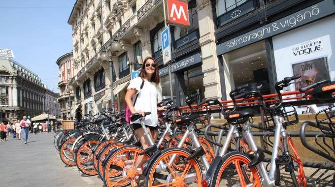 Il nuovo bike sharing a Milano (Newpress)