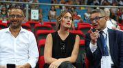 Maria Elena Boschi all'Adriatic Arena per i campionati mondiali di ginnastica ritmica (Fotoprint)