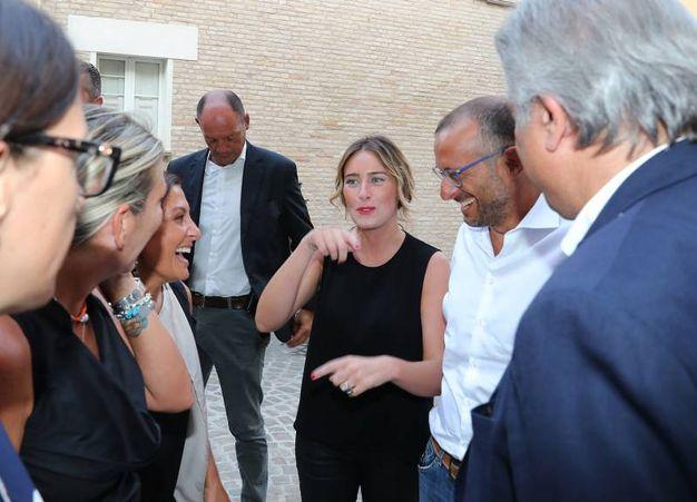 La Boschi poi si è recata alla Festa dell'Unità in centro (Fotoprint)