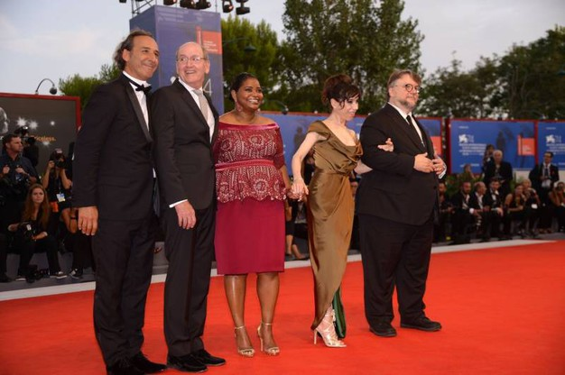Il cast di 'The Shape of Water' (Afp)