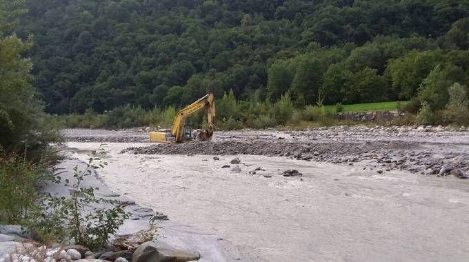 Nei giorni scorsi le operazioni di messa in sicurezza della diga di Villa di Chiavenna