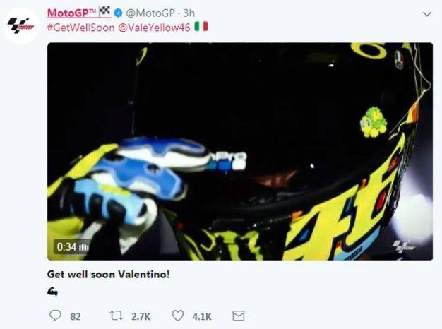 L'account ufficiale della MotoGP (da Twitter)